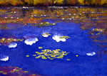 Current in a summer sky,(Monet's pond)